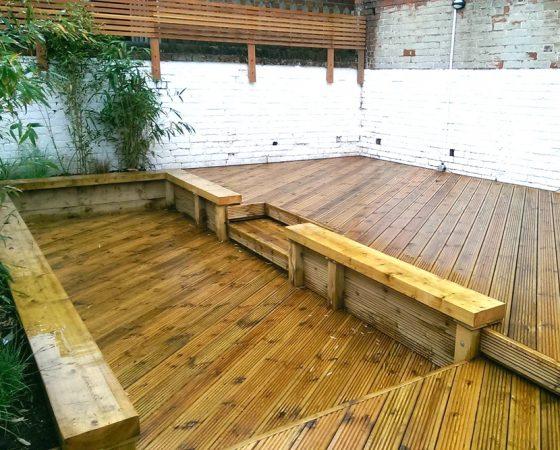 Pub Garden Decking